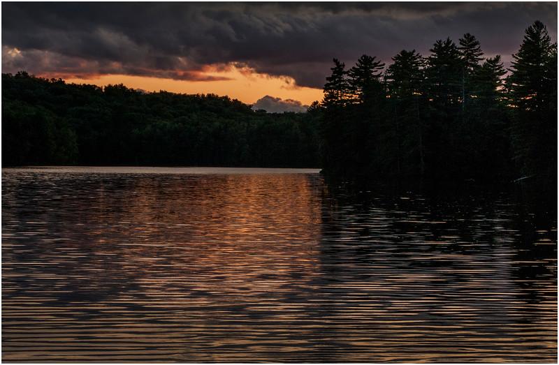 Adirondacks St Regis Long Pond Sunset 1 July 2009