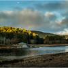 Adirondacks Warrensburgh November 2015 Hudson River from River Road Morning Light 2 Moon