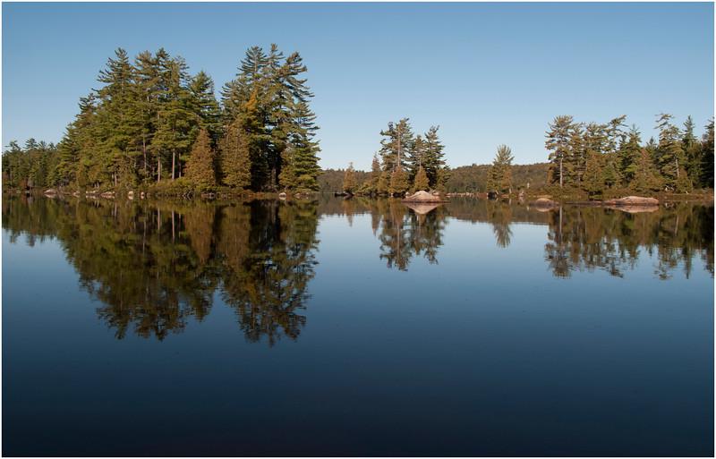 Adirondacks South Pond Scene Island 2 October 2011