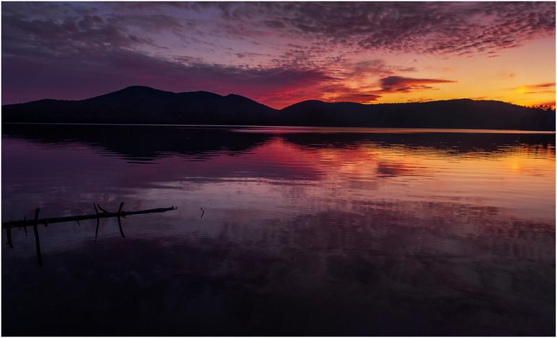Adirondacks Lake Eaton Sunset 4 October 2019
