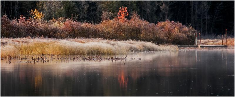 Adirondacks Marion River in Frost 6 October 2009
