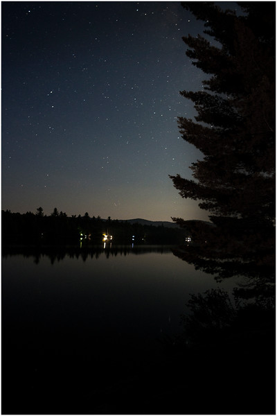 Adirondacks Forked Lake Starscape from Campsite 36 6 August 2016