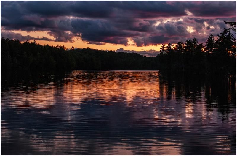 Adirondacks St Regis Long Pond Sunset 6 July 2009