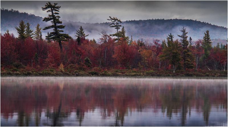 Adirondacks Whitney Wilderness Round Lake Color Shoreline 4 September 2013