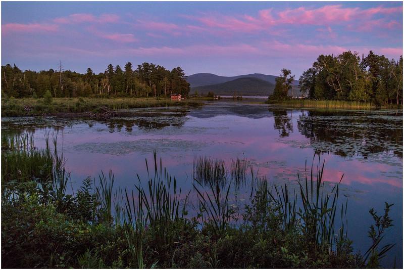 Adirondacks Chateaugay Lake View South from Snug Harbor Camp 1 July 2016