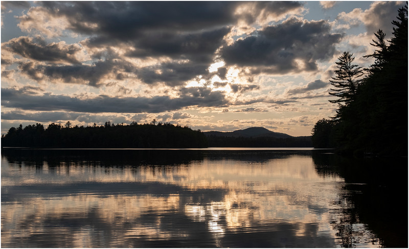 Adirondacks Rollins Pond Evening 3 August 2019