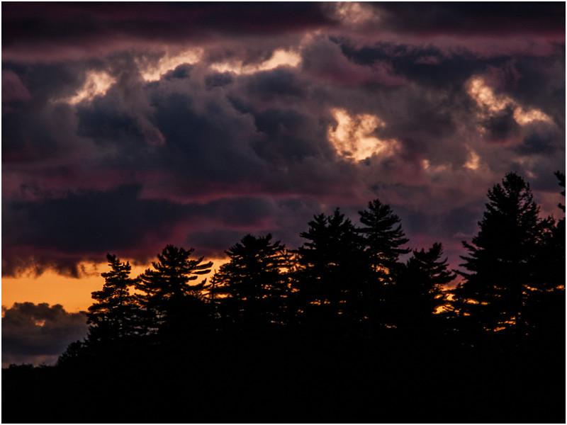 Adirondacks St Regis Long Pond Sunset 5 July 2009