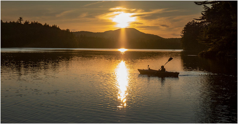 Adirondacks Rollins Pond Evening 30 August 2019