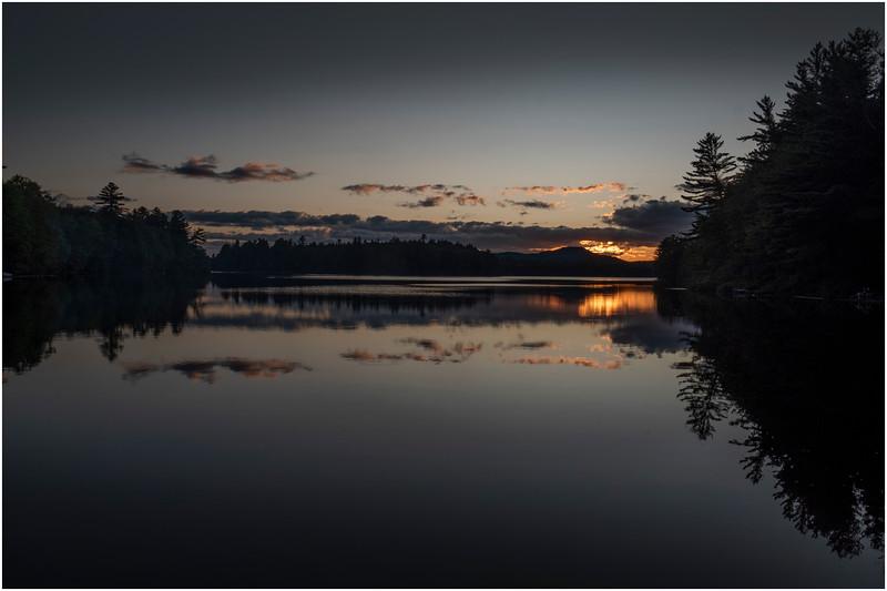Adirondacks Rollins Pond Evening 23 August 2019