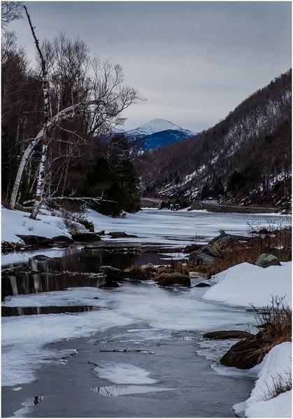 Adirondacks Algonquin Peak from Lower Cascade Lake 2 February 2017