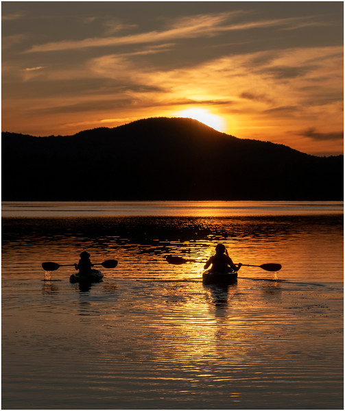 Adirondacks Rollins Pond Evening 48 August 2019