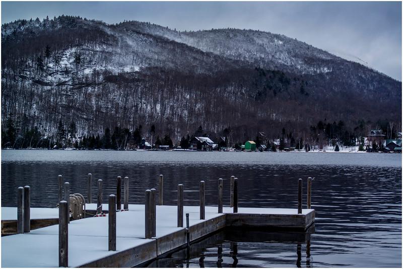 Adirondacks Blue Mountain Lake 1 Prospect Point Dock December 2016