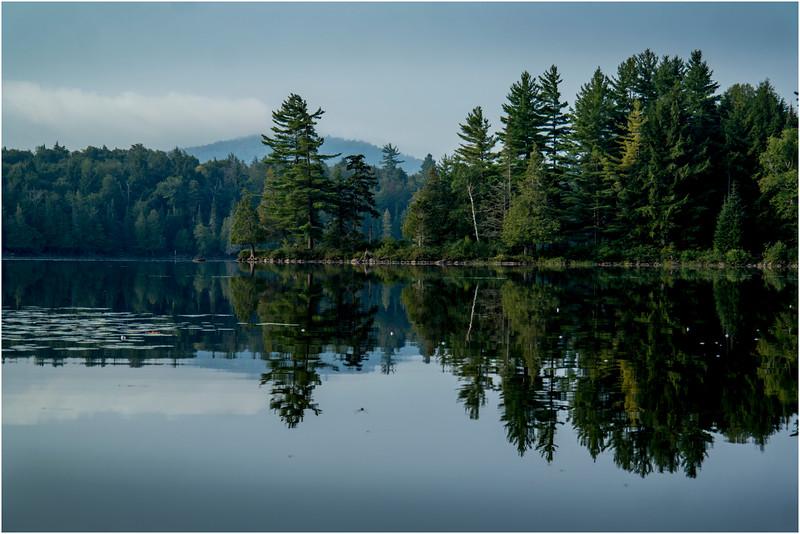 Adirondacks Forked Lake August 2015 OIsland Area After Sunrise 3