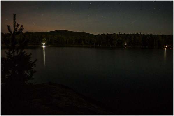 Adirondacks Forked Lake Starscape from Campsite 36 1 August 2016