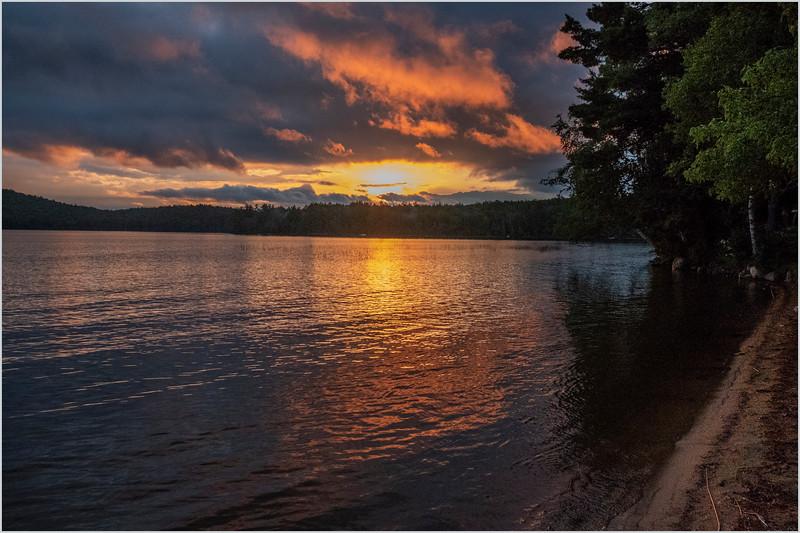 Adirondacks Lake Eaton Sunset 3 July 2019