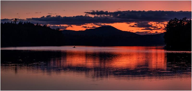 Adirondacks Rollins Pond Evening 28 August 2019