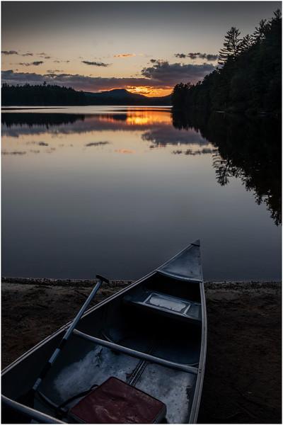 Adirondacks Rollins Pond Evening 26 August 2019