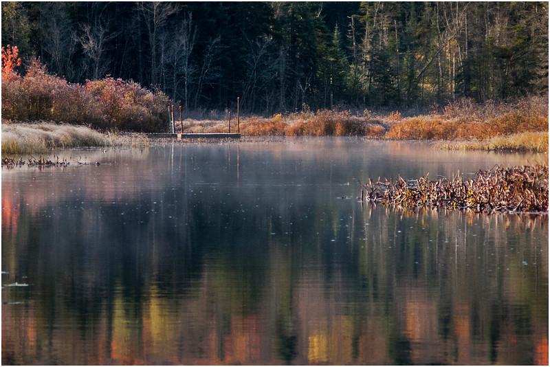 Adirondacks Marion River in Frost 5 October 2009