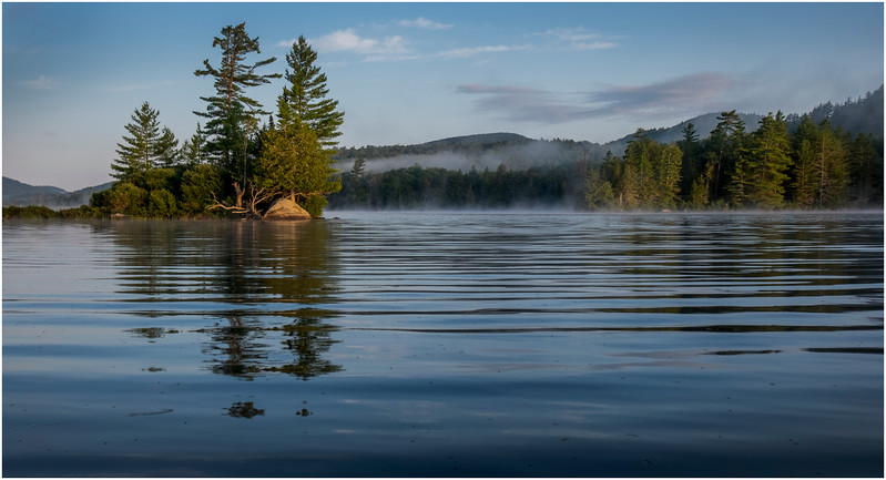 Adirondacks Forked Lake Morning Mist 35 July 2017
