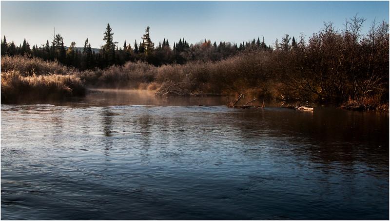 Adirondacks Marion River in Frost 1 October 2009