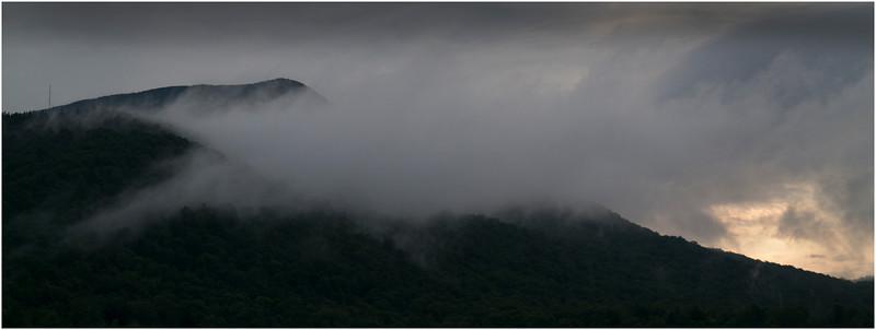 Adirondacks Blue Mountain Lake Mountain in Cloud 3 July 2012