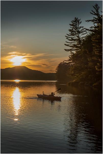 Adirondacks Rollins Pond Evening 31 August 2019