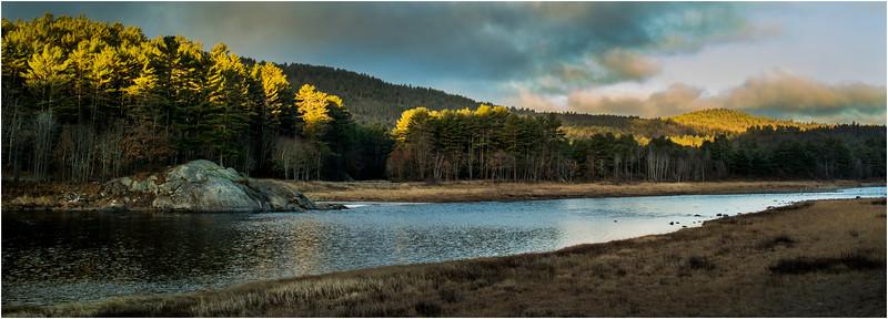 Adirondacks Warrensburgh November 2015 Hudson River from River Road Morning Light 3