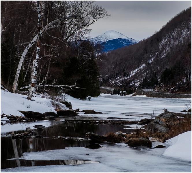 Adirondacks Algonquin Peak from Lower Cascade Lake 5 February 2017