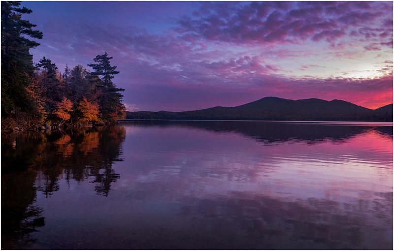 Adirondacks Lake Eaton Sunset 8 October 2019