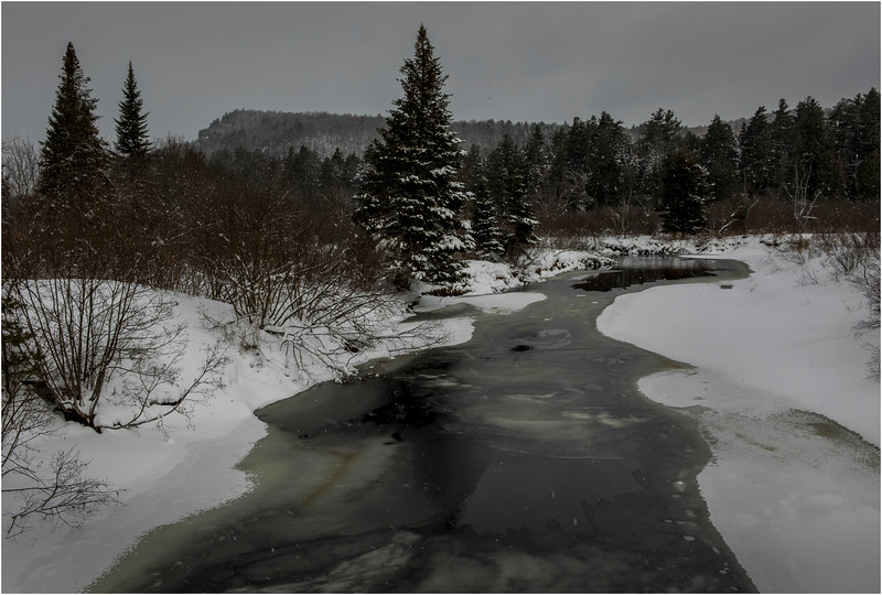 Adirondacks Arietta West Branch Sacandaga River 2 March 2018