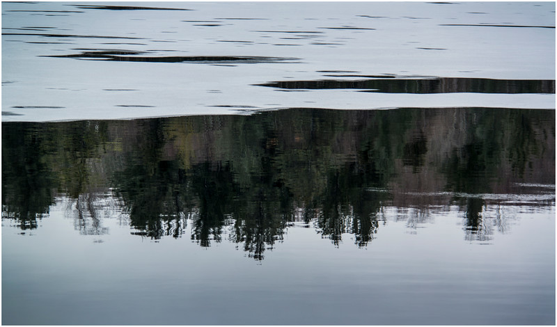 Adirondacks Tupper Lake Backwater with Reflection 1 December 2016