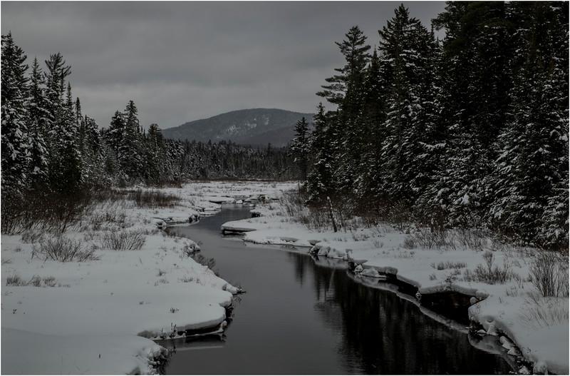 Adirondacks Grampus Lake Outlet 4 March 2018