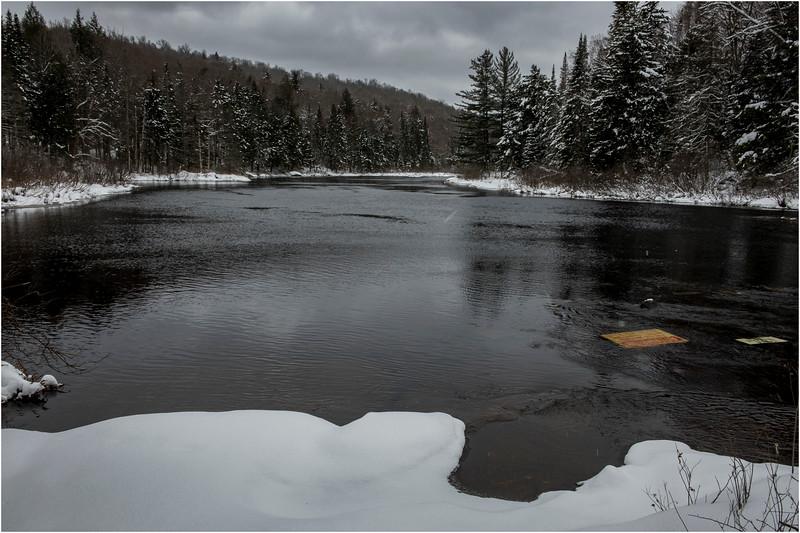 Adirondacks Raquette River Avove Buttermilk Falls 2 March 2018