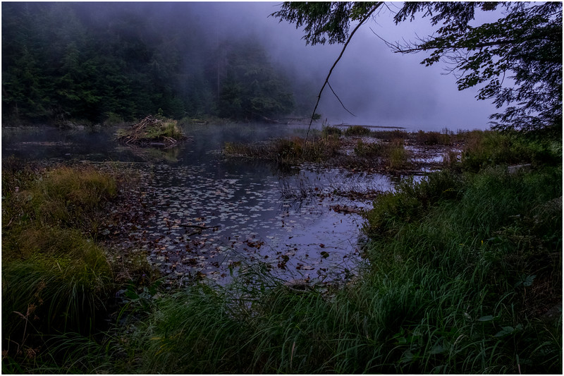 Adirondacks Cary Lake Morning Mist 37 September 2017