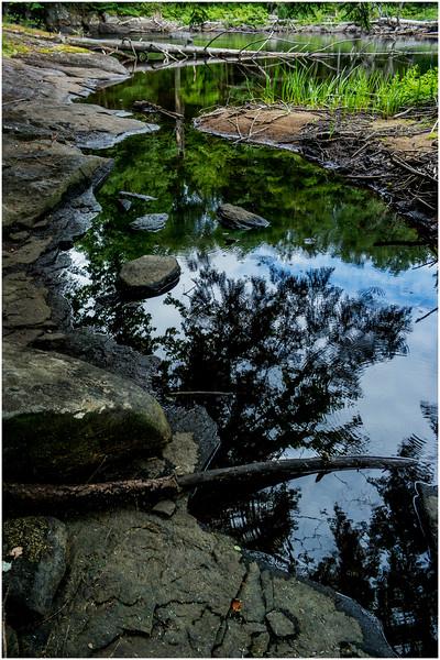 Adirondacks Round Lake Whitney Wilderness Outlet Stream 7 July 2016