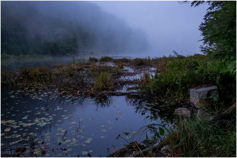 Adirondacks Cary Lake Morning Mist 39 September 2017