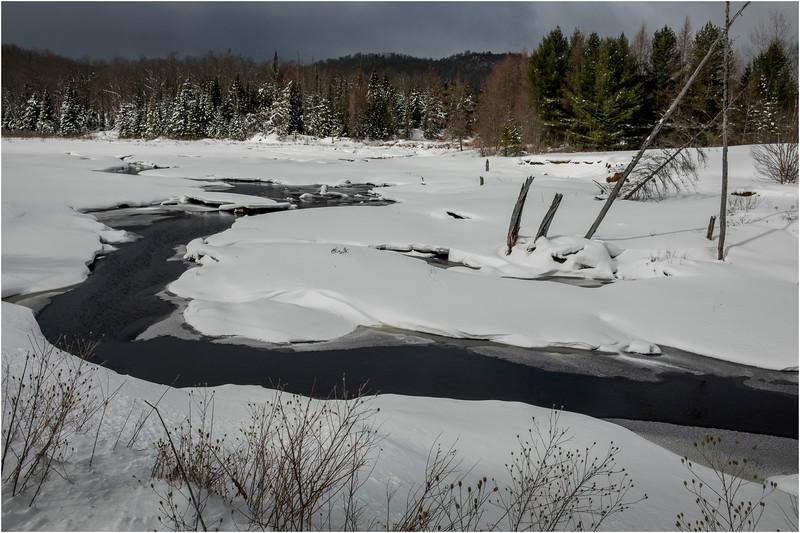 Adirondacks Tahawus Hudson River 6 March 2018