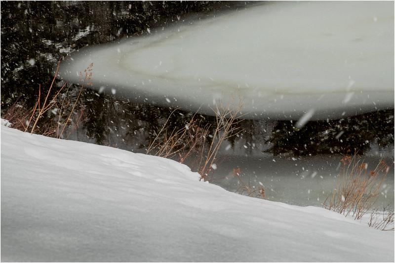 Adirondacks Arietta Shoreline while Snowing 1 March 2018