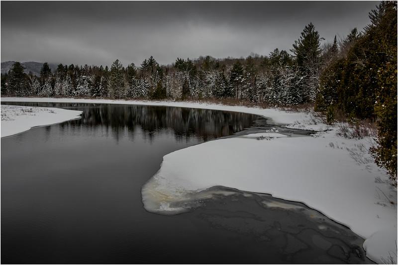 Adirondacks Newcomb Hudson River 12 March 2018