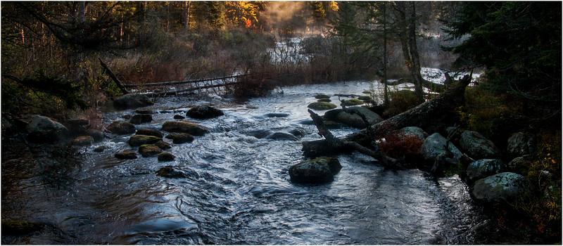 Adirondacks Marion River in Frost 8 October 2009