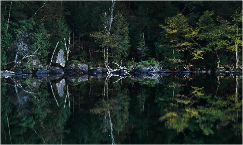 Adirondacks Lower Cascade Lake September 2015 Shoreline 2