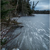 Adirondacks Lake Abenakee Backwater Frozen Surface 3 December 2016