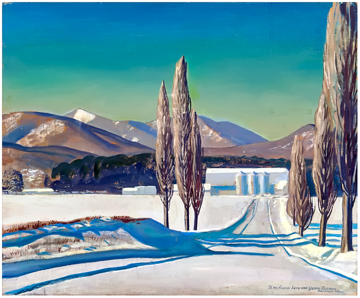 """""""Winter at Asgaard: Sally and Rockwell Kent Farm"""" by Rockwell Kent"""