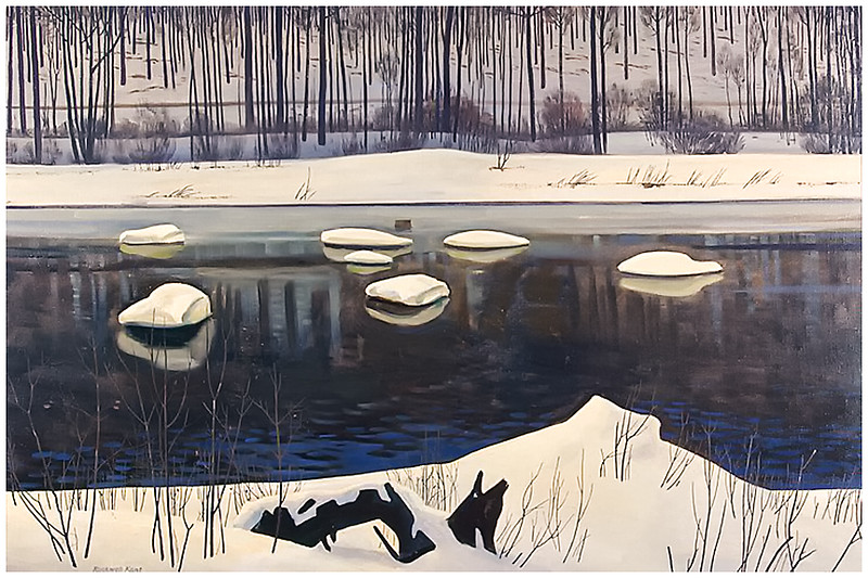 """""""Sable River Winter"""" by Rockwell Kent"""