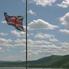 The British ensign in a prominent position