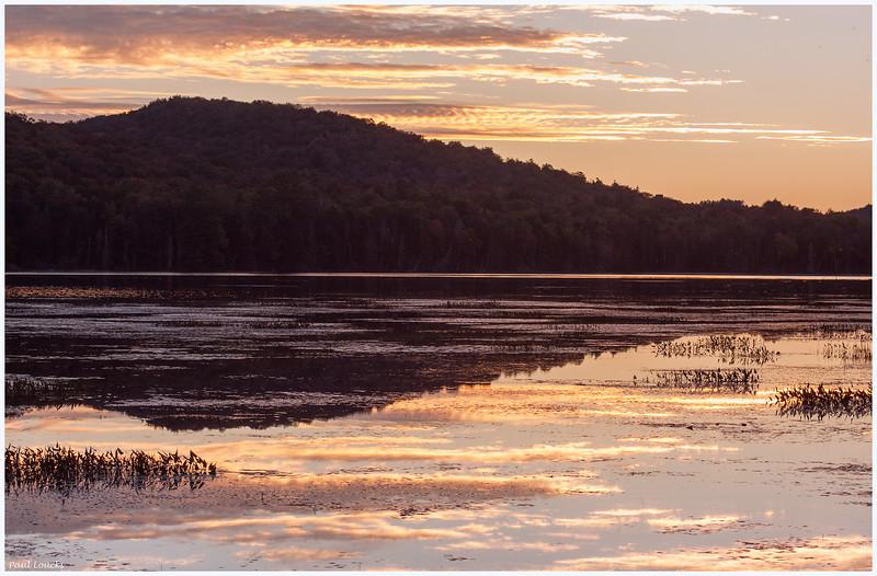 Sunset on Lake Durant near Blue Mountain Lake in the Adirondacks