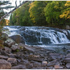 Fall foliage at Buttermilk Falls on the Raquette River