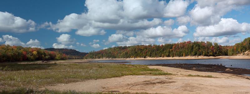 Carry Falls Reservoir, low water