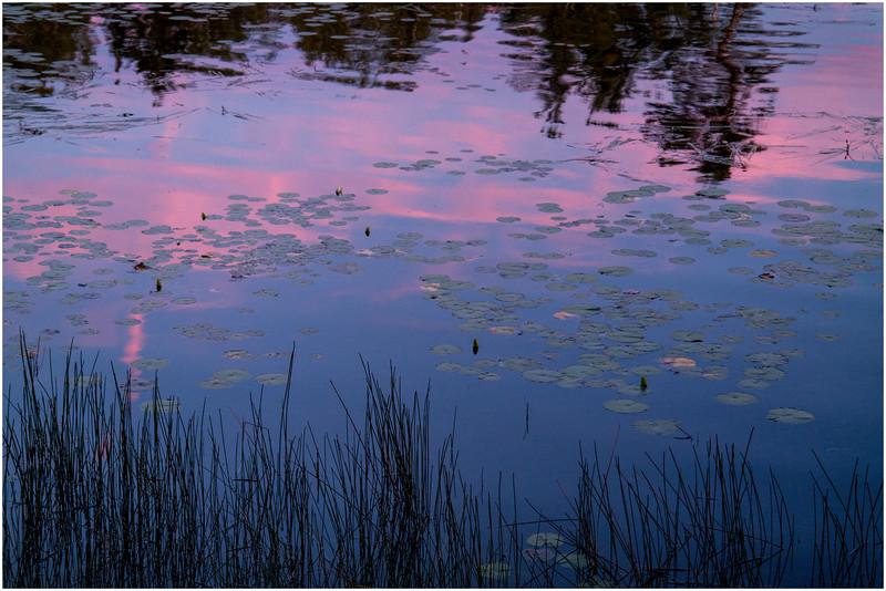 Adirondacks Chateaugay Lake Sunset from Snug Harbor Camp 1 July 2016