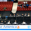 International judges settling in for the final ice dancing competition